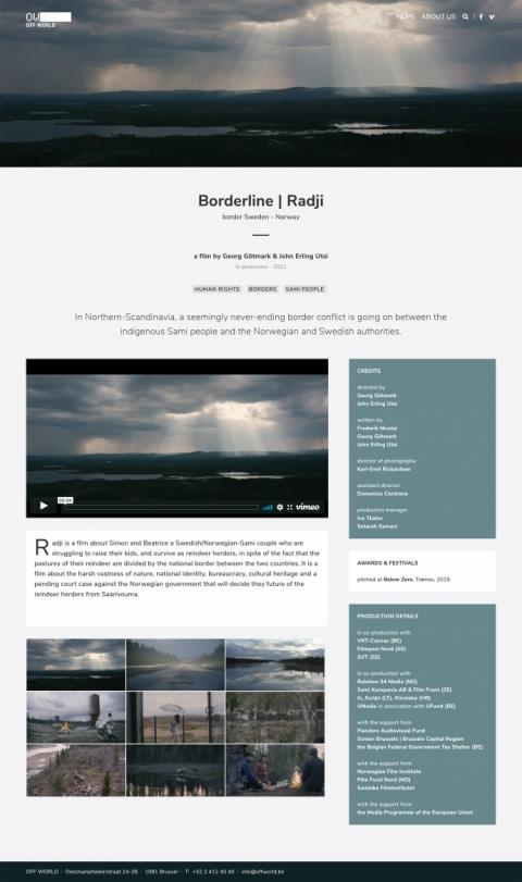 Off World Films website
